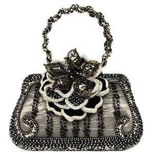 MARY FRANCES 🖤 Stunning Silk Beaded Hand Bag